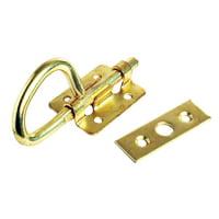 "RV Designer H509 Bunk Latch - Brass, 3-1/2"""