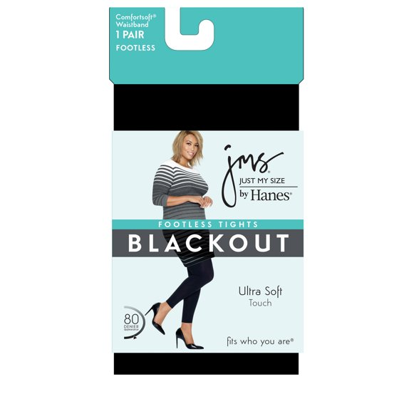 9b8d9f7b2d2 Just My Size - Just My Size Blackout Footless Tights