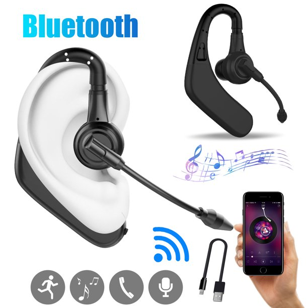 Wireless Earpiece Single Ear Bluetooth 5 0 Headset For Cell Phones Hands Free Wireless Earpiece With Dual Mic Noise Cancelling Earphone For Business Driving Meeting Compatible With Iphone Android Walmart Com Walmart Com