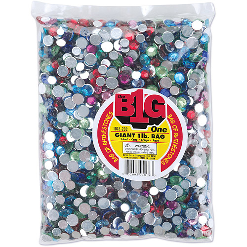 Darice Rhinestone Shapes 1 Pound, Round Multi