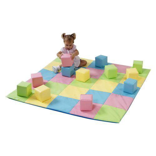 Children's Factory Pastel Matching Mat & Block Set