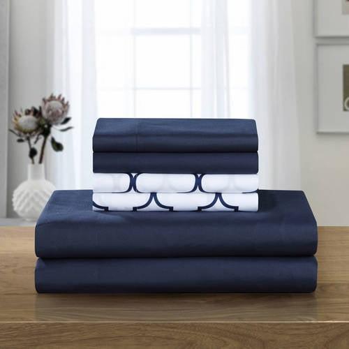 Tymon 4-Piece Bedding Sheet Set with 1 Bonus Pillowcase