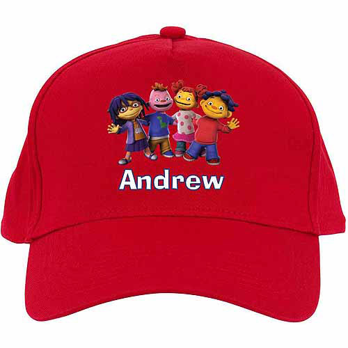 Personalized Sid the Science Kid Friends in a Row Baseball Hat, Red