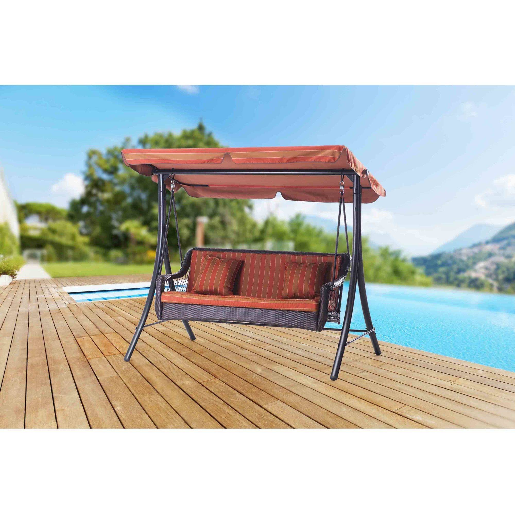 "Sunjoy 110205004 Curry Steel Porch Swing, 81"" x 65"" x 68"" by SunNest Services LLC"