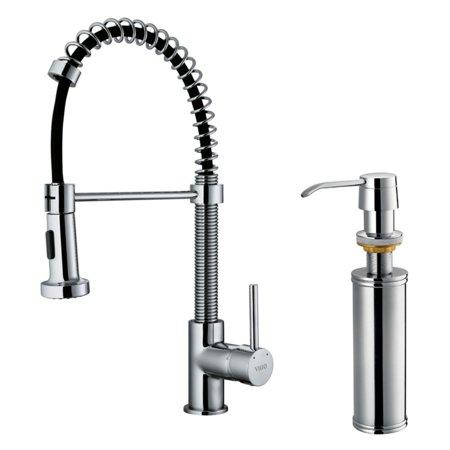 Vigo Vg02001k2 Single Handle Pull Down Kitchen Faucet With Soap Dispenser
