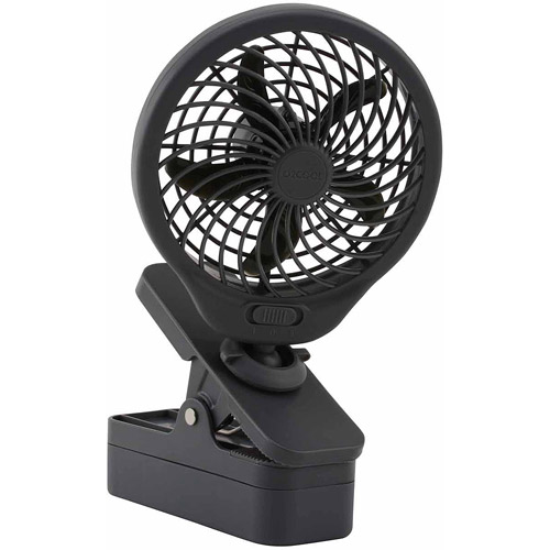 "O2COOL 5"" Powerful D Battery Clip Fan (Grey)"