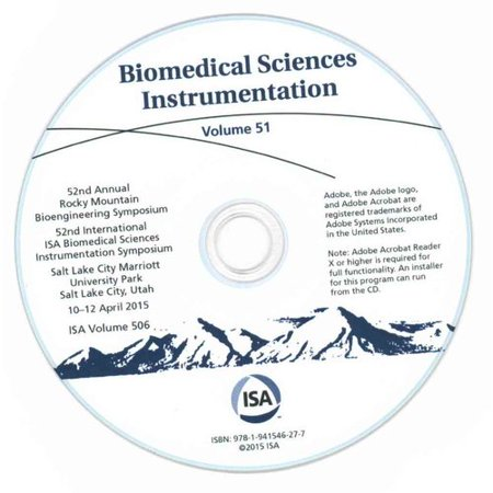Biomedical Sciences Instrumentation  52Nd Annual Rocky Mountain Bioengineering Symposium  52Nd International Isa Biomedical Sciences Instrumenttion Symposium  Salt Lake City Marriott Univ