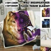 150X200/150x130CM Soft Plush Fleece Blanket Luxury Warm Sherpa Throws Sofa Bed Fleece Blanket Animal Pattern