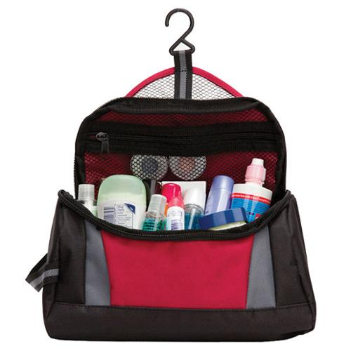 Goodhope Zip Around Hanging Toiletry Bag Burgundy