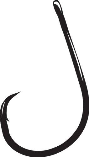 6//0 Gamakatsu Superline EWG Offset Worm Hook-nickel noir 5//0 4//0 3//0 2//0