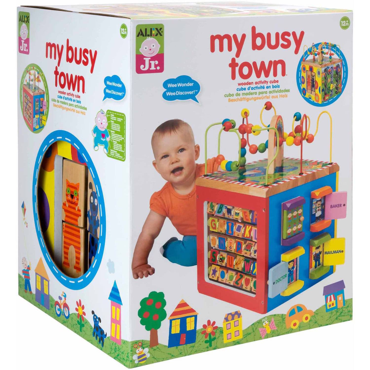 ALEX Toys ALEX Jr. My Busy Town Wooden Activity Cube 0A4W