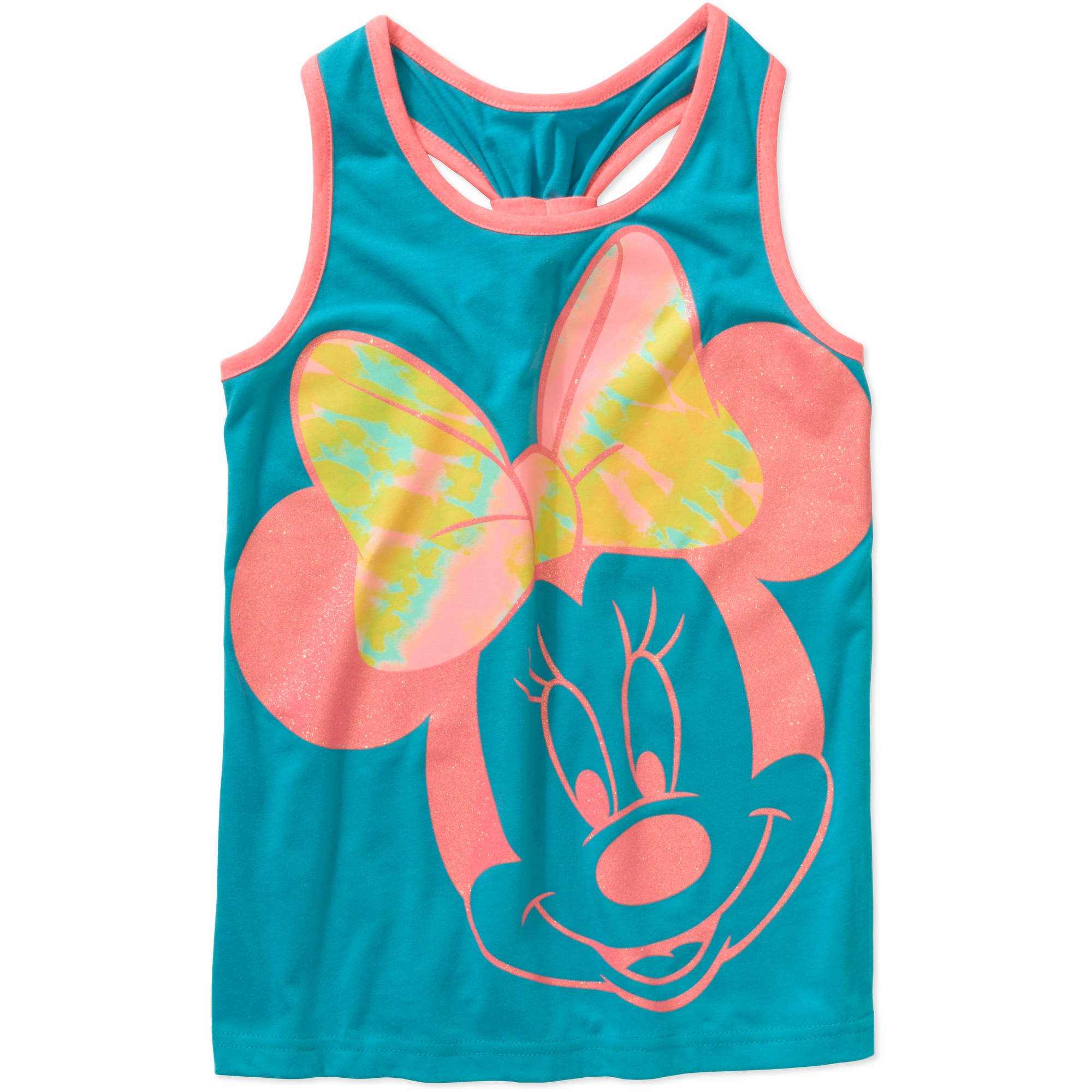 Minnie Mouse Girls' Banded Racerback Graphic Tank