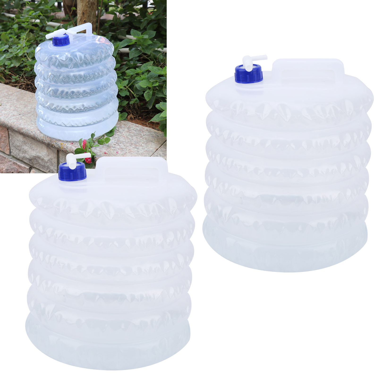 Details about  /Collapsible Water Container 15L Maximum Volume Water Storage Container For Camps