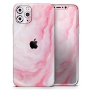 Marbleized Pink Paradise V4 - DesignSkinz Protective Vinyl Decal Wrap Skin Cover compatible with the Apple iPhone 11 (Full-Body, Screen Trim & Back Glass Skin)