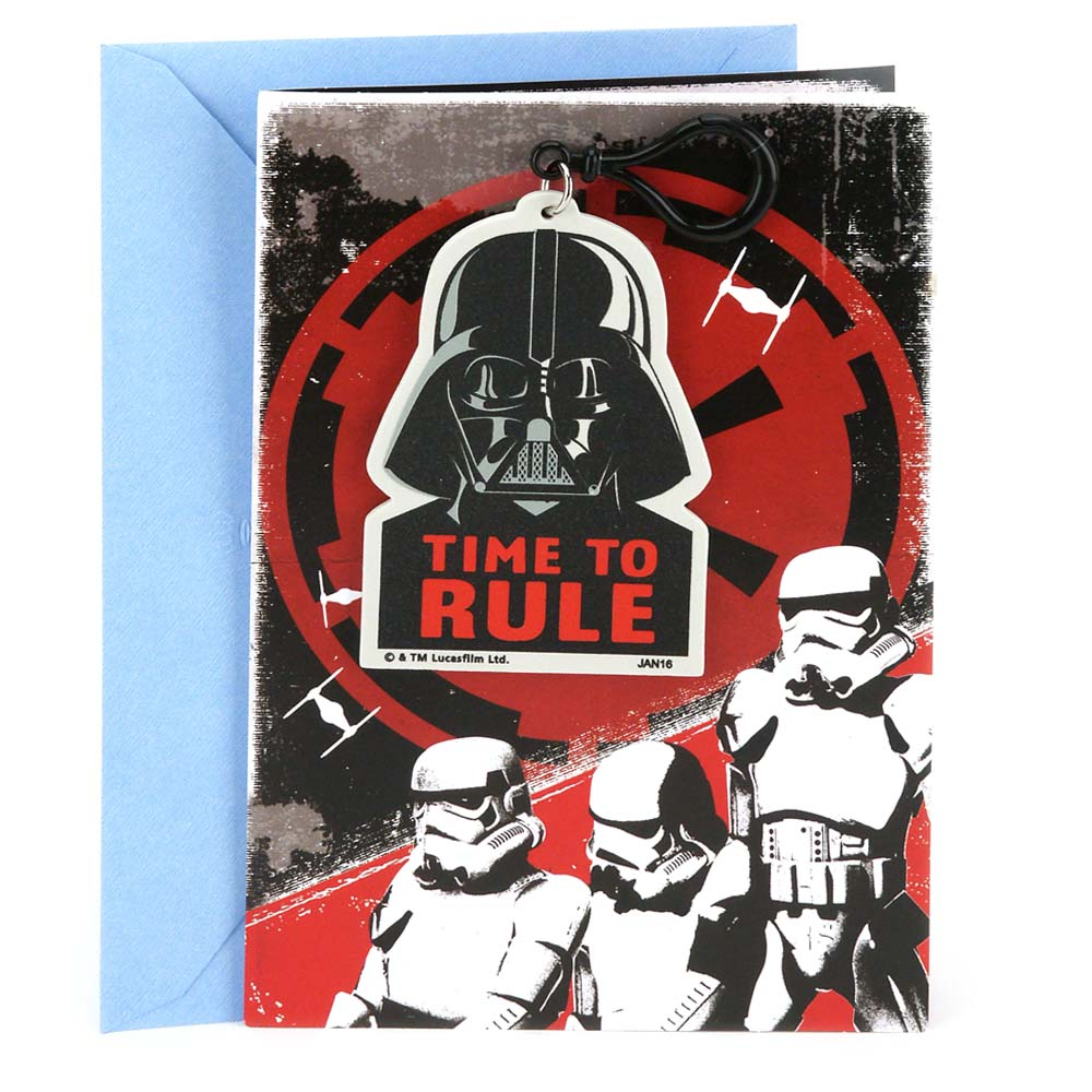 Hallmark, Star Wars Darth Vader Backpack Clip, Birthday Greeting Card