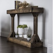 Barb Large Console Table Solid Wood by Del Hutson Designs, Multiple Colors