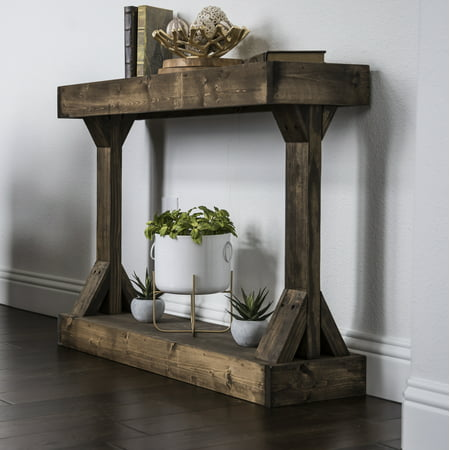 Solid Wood Vanity Console - Barb Small Console Table Solid Wood by Del Hutson Designs