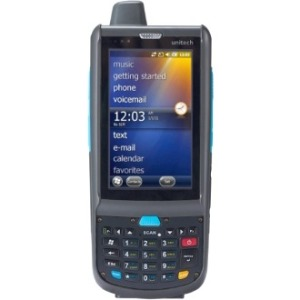 "Unitech Rugged Handheld Computer - Texas Instruments ARM 1 GHz - 512 MB RAM - 512 MB Flash - 3.8"" WVGA LCD - 26 Keys - Numeric Keyboard - Wireless LAN - Bluetooth"