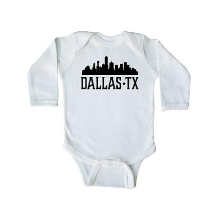 Dallas Texas City Skyline Long Sleeve Creeper (Party City Dallas Texas)