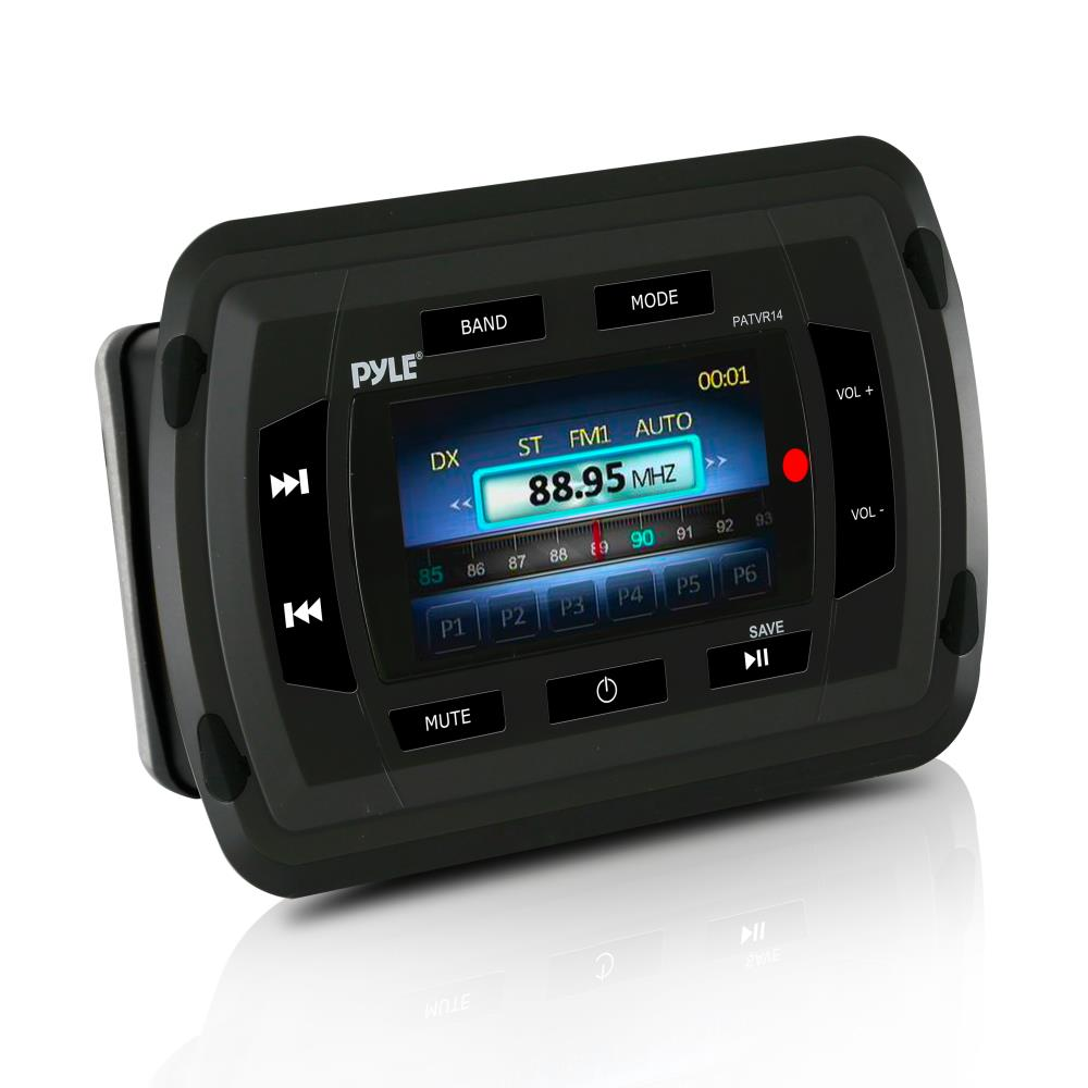 PYLE PATVR14 - Marine Bluetooth Audio/Video Receiver - Water Resistant A/V Stereo Headunit, Color LCD Display, USB Reader