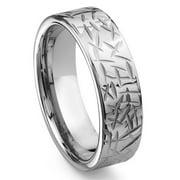 Titanium Kay Armor Tungsten Carbide Comfort Fit Mens Wedding Band Ring Sz 10.0