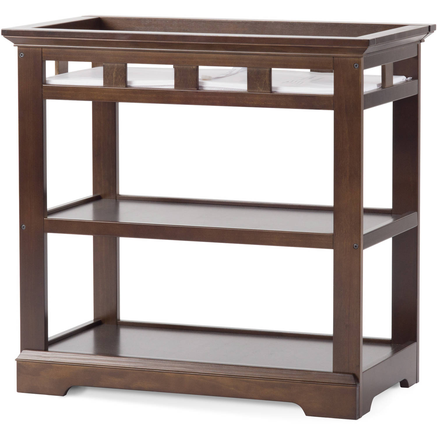 Kayden Dressing Table, Cool Gray by Foundations Worldwide