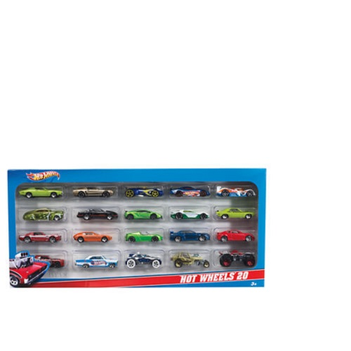Hot Wheels Cars, 20 Die-Cast Car Gift Pack (Styles May Vary) by MATTEL INC
