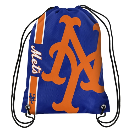 New York Mets Official MLB 18 inch  x 13 inch  Backpack Backsack by Forever Collectibles