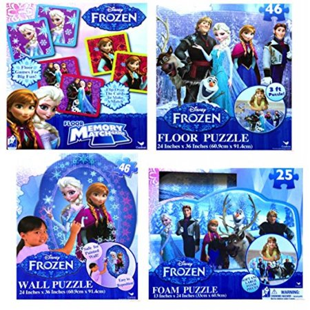 Disney Frozen Learning And Development Floor Memory Match Game With Large Puzzle Variations  Complete Set