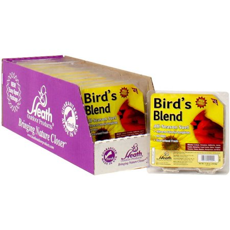 Heath Outdoor Products - Wild Bird Suet Cake Songbird's Blend 12 Pack Berry Blend Suet Cake