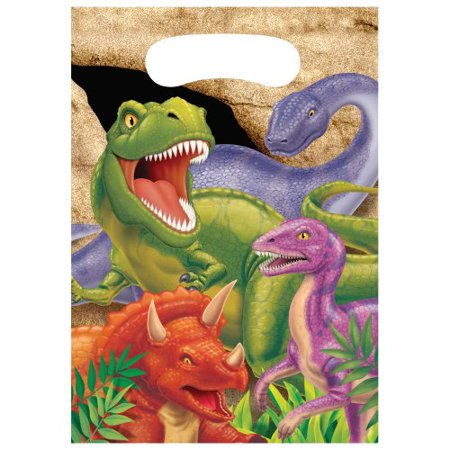 Creative Converting Dino Blast 8 Count Party Favor Loot Bags - Homemade Halloween Loot Bags