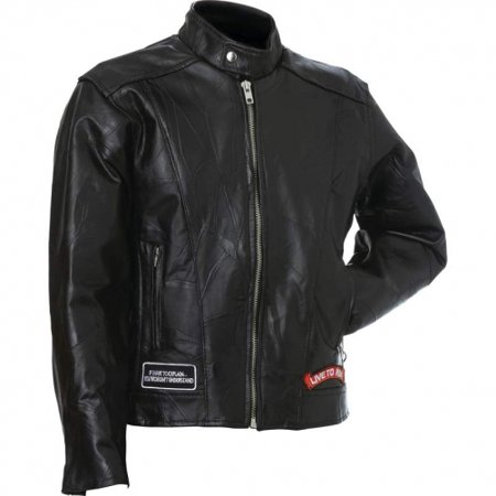 Diamond Plate Motorcycle Jacket (Diamond Plate Genuine Buffalo Leather Motorcycle Jacket)