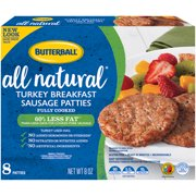 Butterball All Natural Turkey Breakfast Sausage Patties 8 oz. Package
