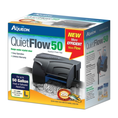 Aqueon QuietFlow 06117 Power Filter, 250 gph