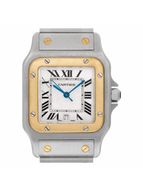 Pre-Owned Cartier Santos Galbee W20011C4 Steel  Watch (Certified Authentic & Warranty)