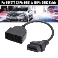 22 Pin OBD 1 to 16 Pin OBD2 Convertor Adapter Cable Diagnostic Scanner