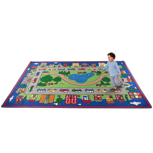 Kid Carpet Around Town Road Area Rug