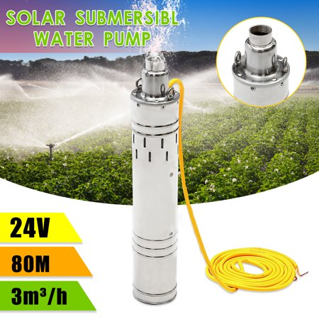 24v Pump - 80M 3m³/H Head Brushless Stainless Steel Deep Well Solar Power Submersible Water Pump 24V 684W