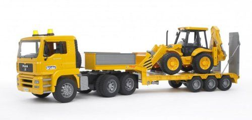 TGA Truck with JCB Backhoe Loader Vehicle Toys by Bruder Trucks (02776) by Bruder Trucks