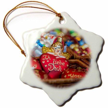 3drose german glass christmas i love you ornaments rothenburg germany snowflake ornament