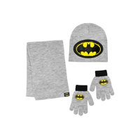 Batman Hat, Glove, and Scarf 3 Piece Set
