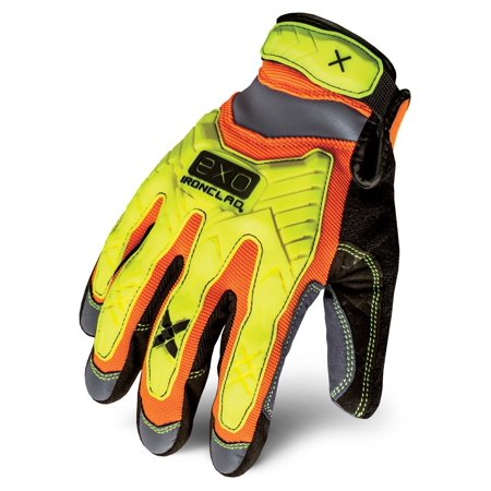 EXO-HZI-04-L Hi-Viz Impact Gloves, Large, If you need Hi-Visibility & 360Degree of impact protection - this is your glove. This thing is a beast! By Ironclad Impact Hi Visibility