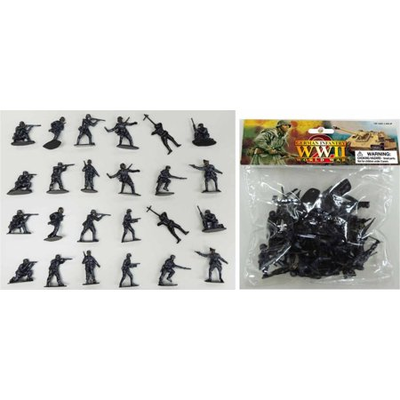 Wwii Infantry Figure Set (1/32 WWII German Infantry Figures (24 Gray) (Bagged) )