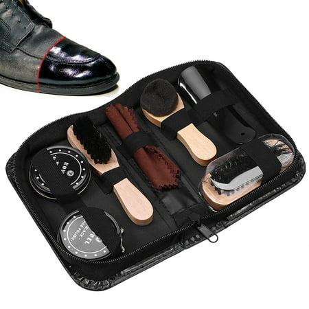 Yosoo 8PCS Leather Shoes Care Tool BootPolishing Cleaning Kit with Black & Neutral Shoe Polishes, Leather Shoes Polishing Kit,Leather Shoes Care Kit - image 3 of 8
