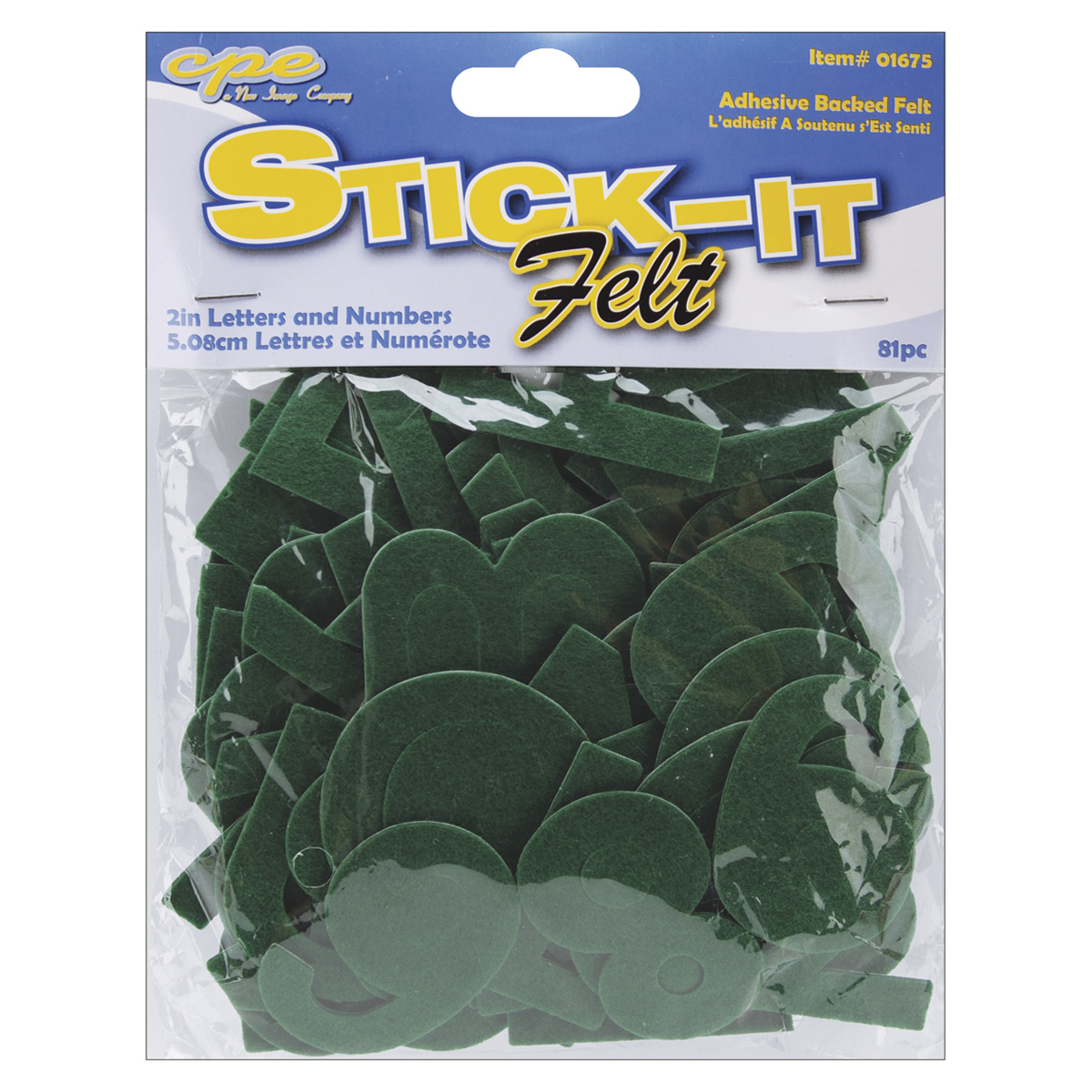 New Image Group Stick It Felt Black 80-Pack 2-Inch Numbers and Letters
