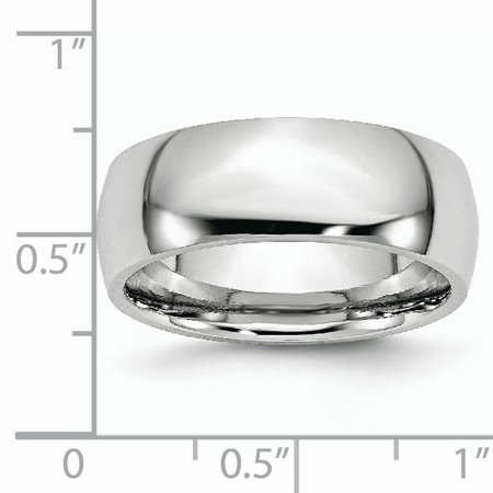 Cobalt 8mm Wedding Ring Band Size 10.00 Classic Domed Fashion Jewelry Gifts For Women For Her - image 1 de 10