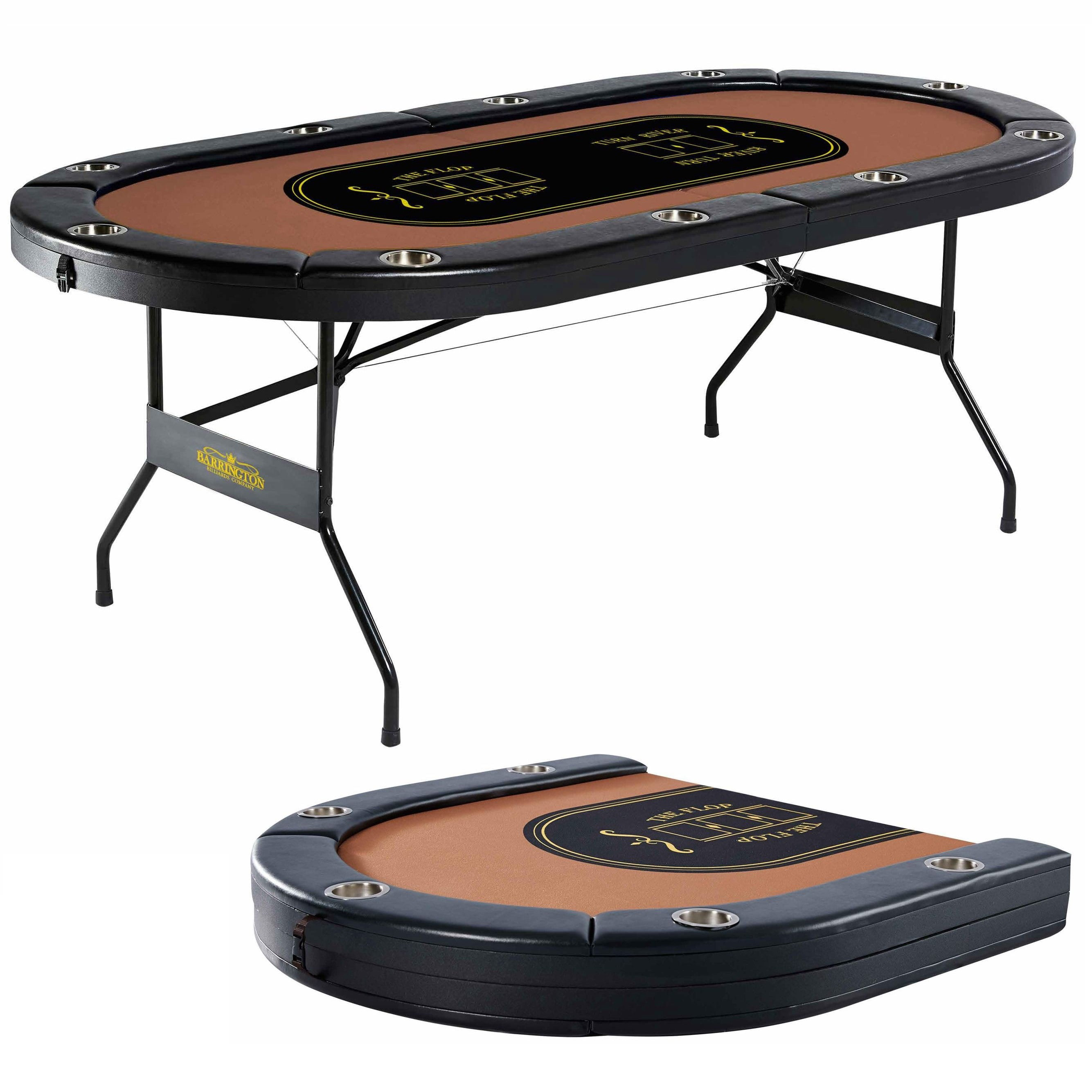 Barrington 10 Player Poker Table No Assembly Required Walmart