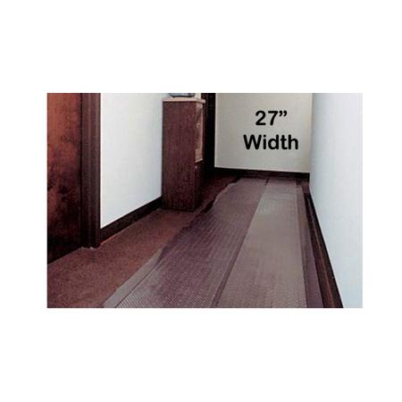 Clear Vinyl Runner for Carpet 27in x 1ft ()