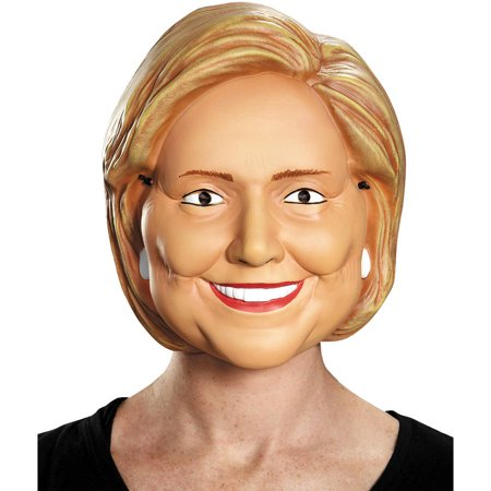Hillary Clinton 1/2 Mask Adult Halloween Accessory - Halloween Half N Half Makeup