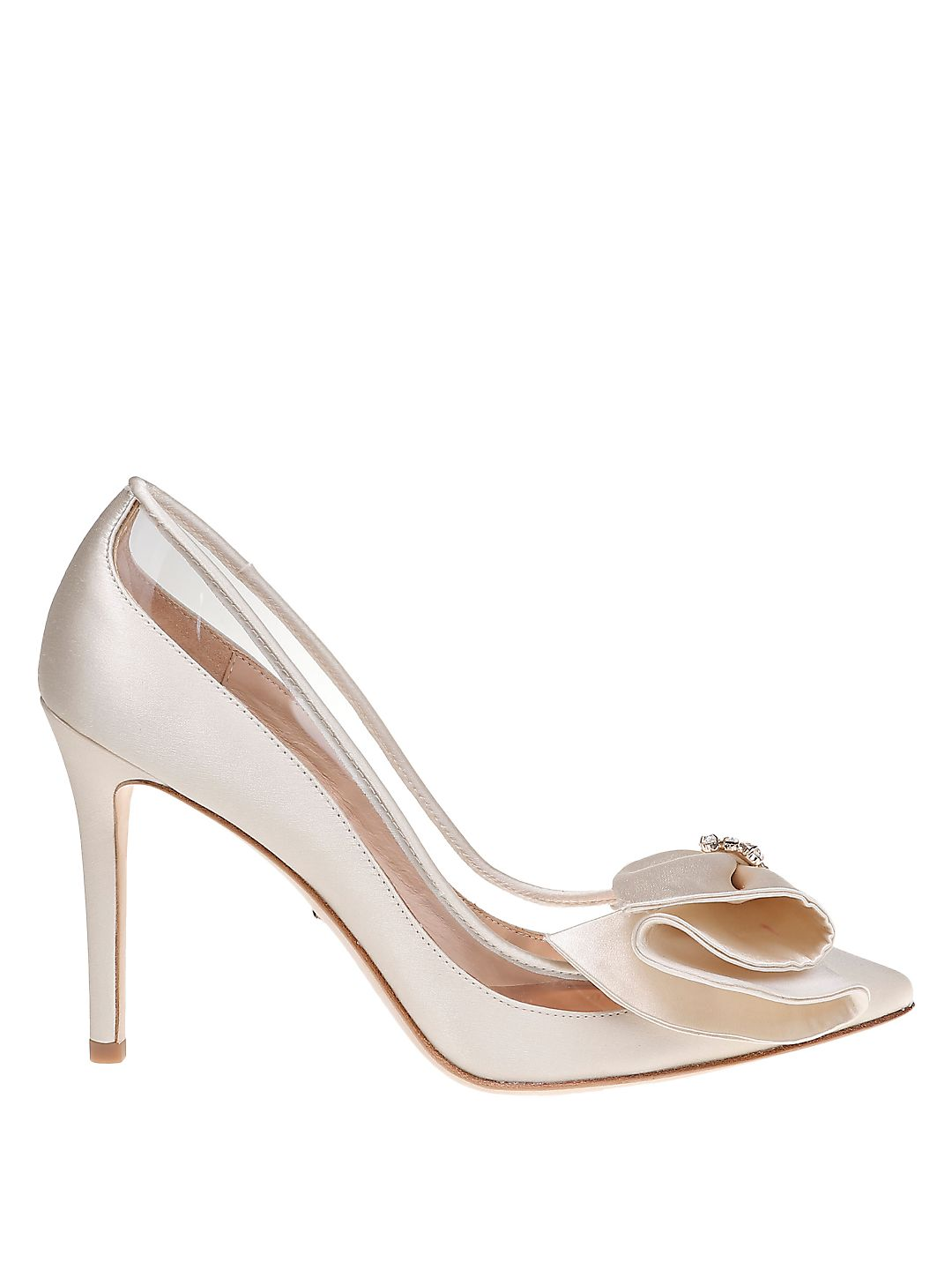 Frances Satin Point-Toe Pumps
